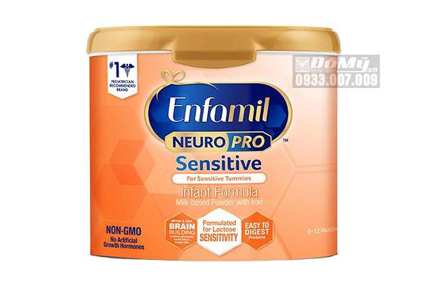 Sữa Enfamil Neuro Pro Sensitive Cho Bé Tiêu Hóa Kém - Nôn Trớ 553g