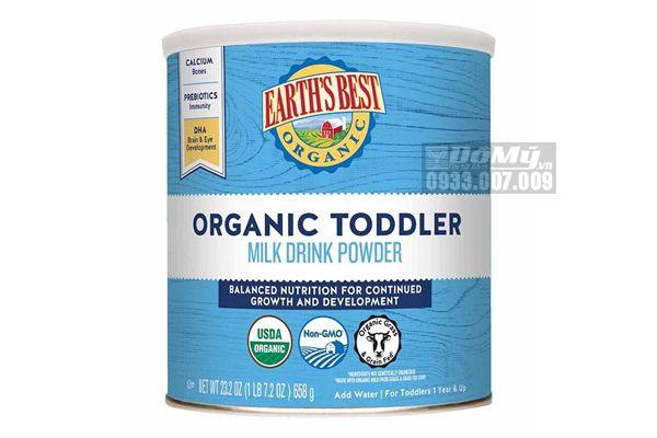 Sữa bột Earth's best organic toddler formula cho bé từ 1 tuổi 658g của Mỹ