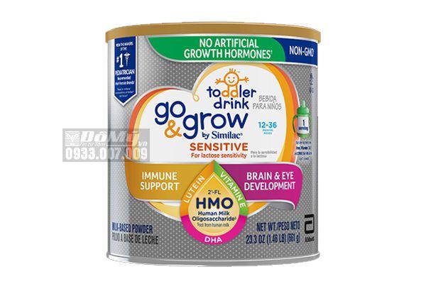 Sữa bột Similac Go&Grow Sensitive cho bé 12 - 36 tháng tuổi 661g