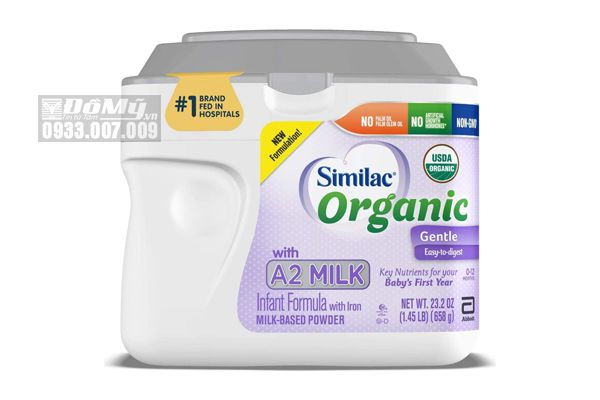 Sữa bột Similac Organic with A2 Milk Infant Formula with Iron 658g của Mỹ