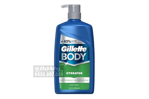 Sữa tắm dạng gel Gillette Body Odor Shield Hydrato 863ml Của Mỹ