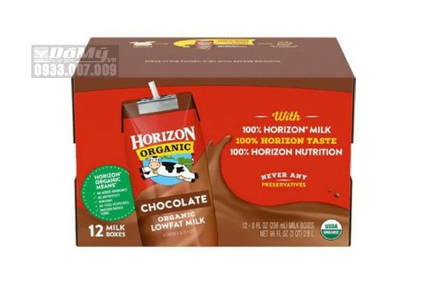 Sữa tươi hữu cơ Socola Horizon Organic 12 hộp x 236ml (thùng)