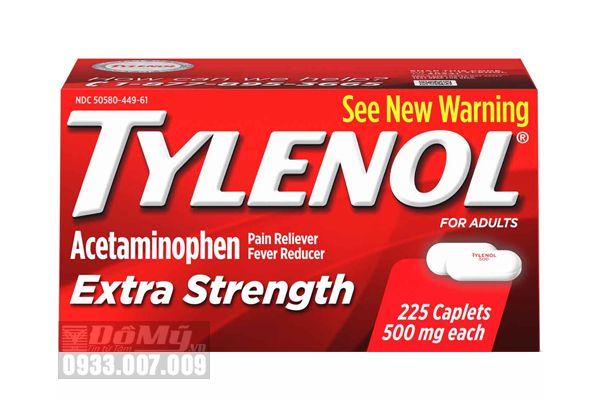 Giảm đau hạ sốt Tylenol Acetaminophen Pain Reliever 500mg 225 viên