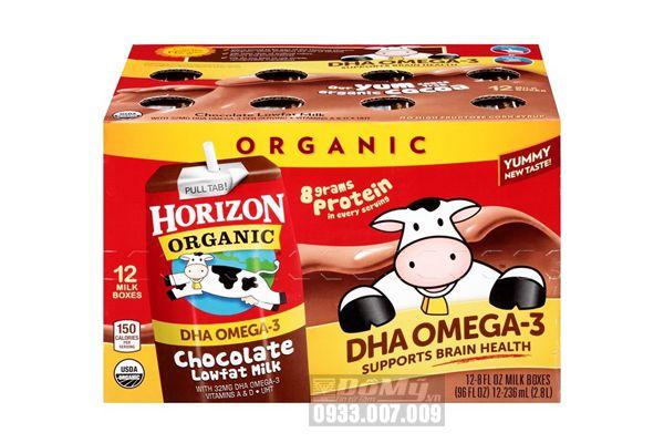 Sữa tươi hữu cơ Socola DHA Horizon Organic 12 hộp x 236ml (thùng)