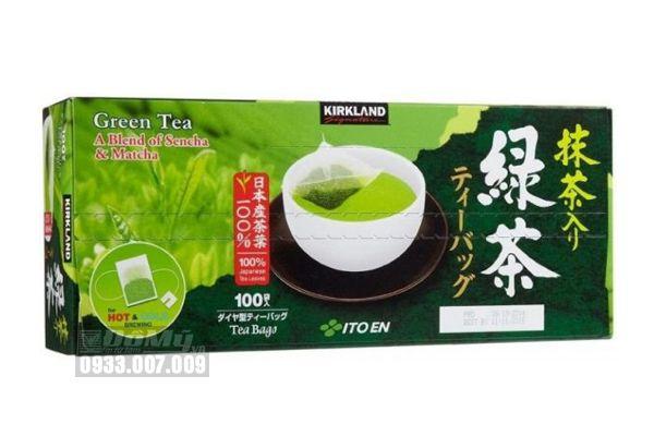 Trà xanh KirkLand Green Tea A Blend Of Sencha & Matcha 100 gói