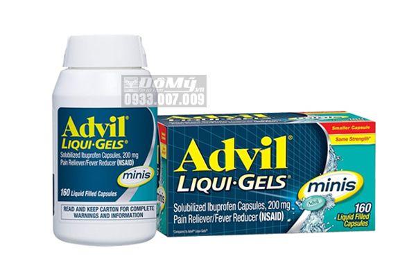 Thuốc Advil Liquid Gels Minis giúp giảm đau, hạ sốt hiệu quả nhất 160 viên