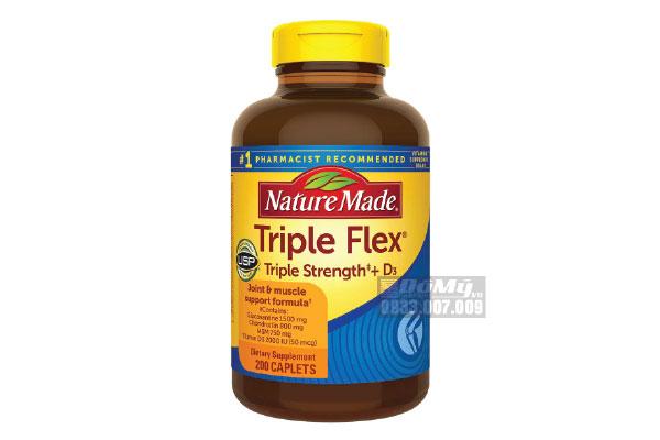 Hỗ trợ điều trị khớp - Triple Flex Nature Made của Mỹ hộp 200 viên
