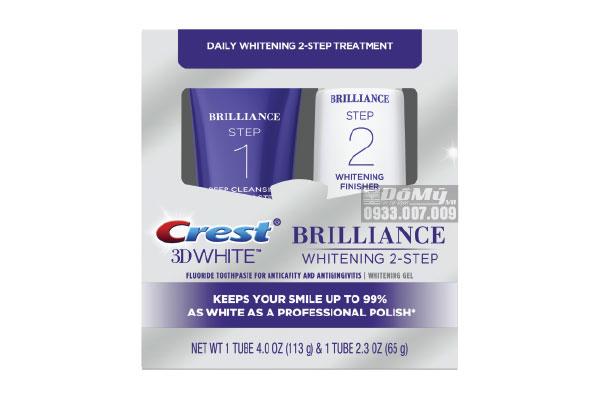 Bộ Làm Trắng Răng Crest 3D White Brilliance - Mỹ