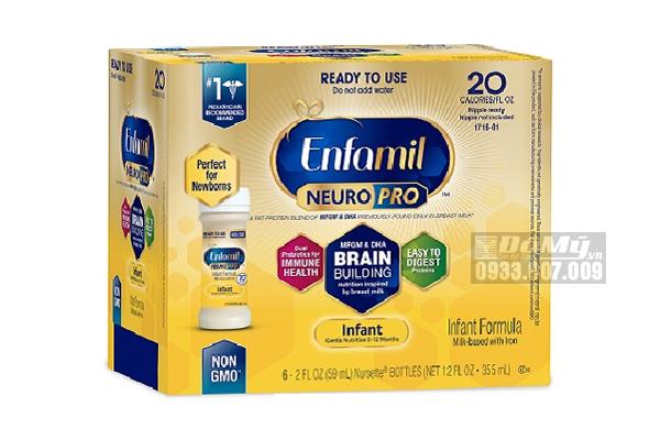 Sữa nước Enfamil Premium NON GMO Infant Formula từ 0 đến 12 tháng 6x59ml