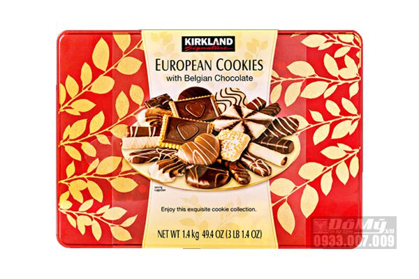 Bánh quy Kirkland Signature European Cookies With Belgian Chocolate 1,4kg của Mỹ