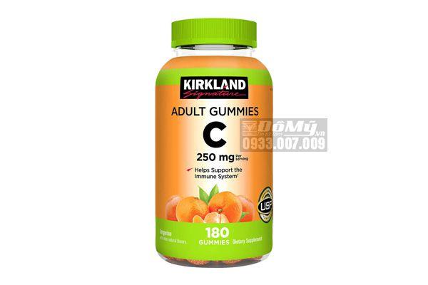 Kẹo bổ sung Vitamin C 250mg Adults Gummies Kirkland 180 viên của Mỹ