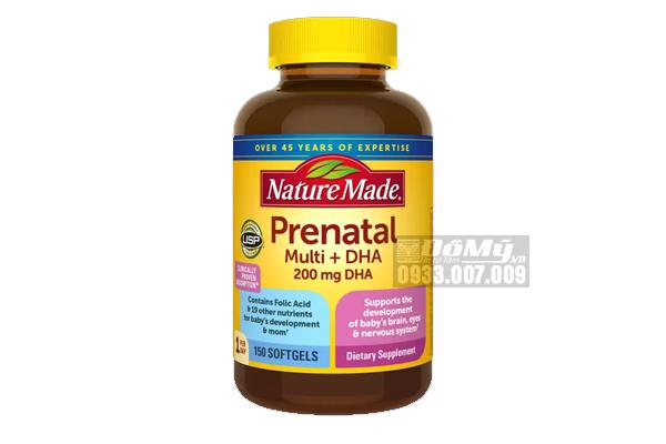 Viên uống cho bà bầu Nature Made Prenatal Multi DHA loại 150 viên