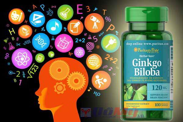 Viên uống giúp tăng cường trí nhớ Ginkgo Biloba 120 mg Puritan's Pride, hộp 100 viên của Mỹ