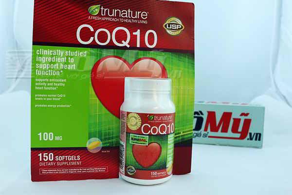 Viên uống bổ Tim Mạch Trunature® CoQ10 100 mg 150 viên của Mỹ