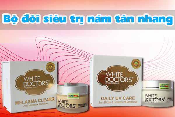 Bộ đôi trị nám, tàn nhang của White Doctors - Daily UV Care & Melasma Clearr