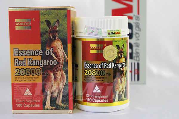 Sản phẩm Essence of Red Kangaroo 20800 giúp tăng sinh lực đàn ông và bổ thận tráng dương