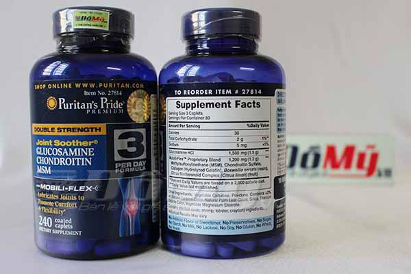 Ngoài ra sản phẩm lucosamin Chondroitin MSM Puritans Pride còn được mọi người tin dùng