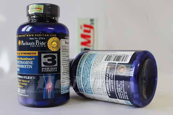 lucosamin Chondroitin MSM Puritans Pride được nhập khẩu nguyên hộp từ Mỹ về với số lượng nhiều và an toàn
