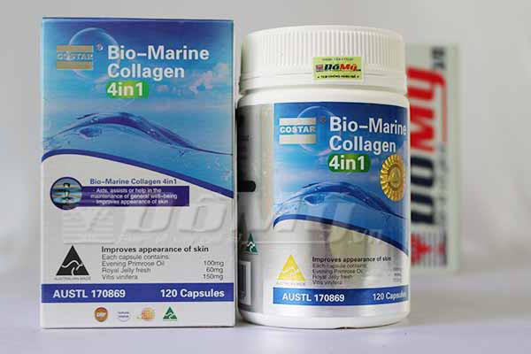Viên uống đẹp da Bio Marine Collagen 4 in1 120 viên của Úc