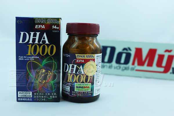 Viên uống bổ não của Nhật tăng cường thị lực DHA 1000mg hộp 120 viên