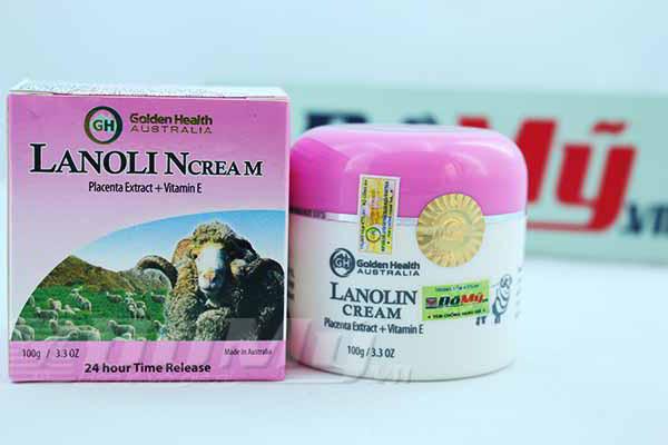 Kem Mỡ Lông Cừu dưỡng ẩm của Úc Golden Health Lanolin Cream Australia loại 100g