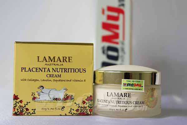 Kem dưỡng trắng da nhau thai cừu của Úc Lamare Placenta Nutritious Cream 50g