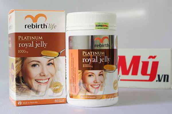 Viên Uống sữa ong chúa Rebirth Platinum Royal Jelly 60 viên của Úc