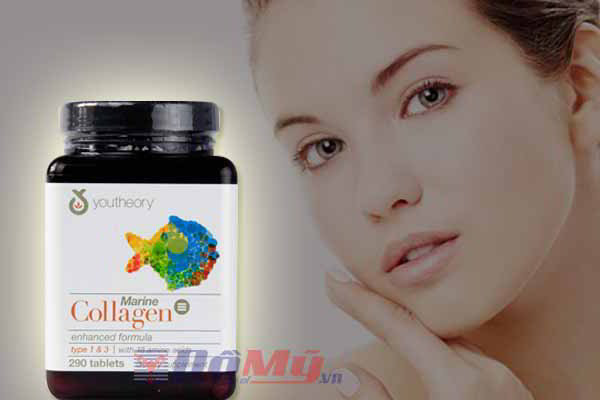 Collagen C Youtheory Advanced Formula Collagen loại 1, 2 & 3 + C 290viên