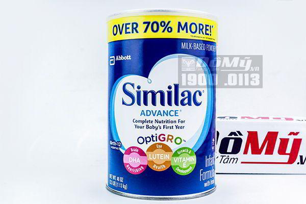 Sữa bột Similac Advance OptiGro 1.13kg