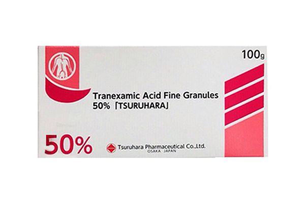 Bột trắng da ngừa mụn trị nám Tranexamic Acid Tsuruhara 100g - Nhật