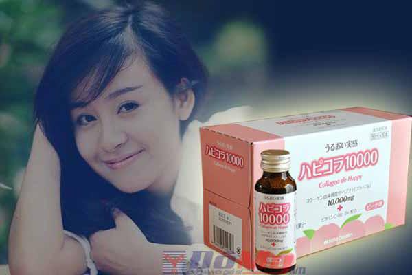 Nước uống ngăn ngừa lão hóa da Collagen De Happy của Nhật Bản