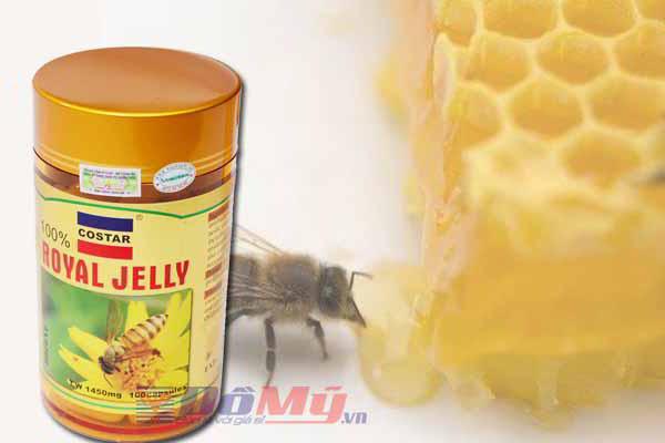 Sữa ong chúa làm đẹp da  Costar Royal Jelly 1450mg 100 viên của Úc