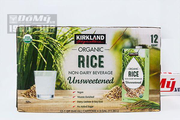 Sữa gạo Kirkland Signature Rice Milk Organic Non-Dairy Beverage 946ml x 12 hộp