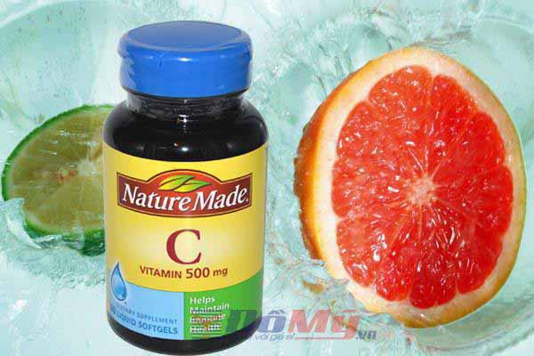 Viên bổ sung Vitamin C Nature Made 500MG 180 viên của Mỹ