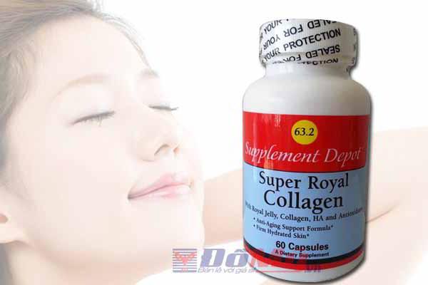 Sữa Ong Chúa  Super Royal Collagen No.63.2 60 viên  của Mỹ