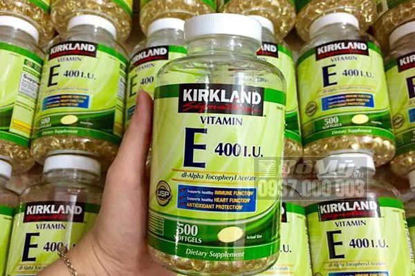 Dùng kirkland vitamin e 400 iu có tốt hay không?